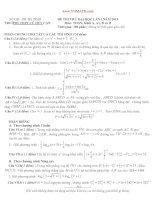 ĐỀ THI THỬ ĐẠI HỌC LẦN I NĂM 2013 Môn: TOÁN, Khối A, A1, B và D TRƯỜNG THPT CÙ HUY CẬN pptx