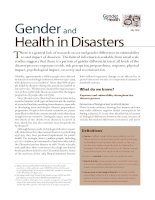 Gender and Health in Disasters docx