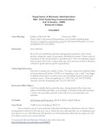 Department of Business Administration MKT 355A Marketing Communications pptx