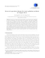 Reservoir operation schemes for water pollution accidents in Yangtze River pdf