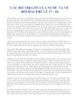 CÁC ĐÔ THỊ LỚN CỦA NƯỚC TA VỀ HỒI HAI THẾ LỶ 17 - 18 pdf