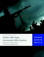Soldiers who rape, commanders who condone - sexual violence and military reform in the Democratic Republic of Congo potx