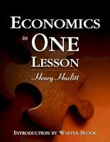 Economics in One Lesson docx