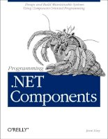 o'reilly - programming  net components