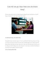 Làm thế nào gây được thiện cảm cho khách hàng? pptx