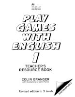 Play games with English - Teachers resource book