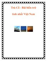 Trà Cổ - Bãi biển trữ tình nhất Việt Nam pptx