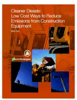 Cleaner Diesels: Low Cost Ways to Reduce Emissions from Construction Equipment potx