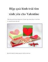 Hộp quà hình trái tim xinh yêu cho Valentine pptx