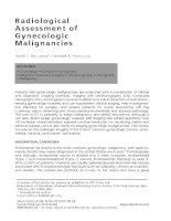 Radiological Assessment of Gynecologic Malignancies ppt