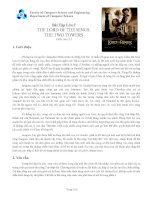 Bài Tập Lớn 2 THE LORD OF THE RINGS: THE TWO TOWERS pdf