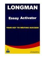 Longman essay activator pot
