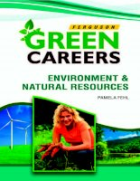 Green Careers: Environment and Natural Resources pptx