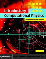 Introductory Computational Physics pptx