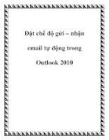 Đặt chế độ gửi – nhận email tự động trong Outlook 2010 pdf