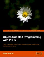 Object-Oriented Programming with PHP5 pptx