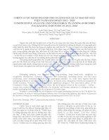 Luận văn thạc sĩ kinh tế chiến lược kinh doanh cho ngành sản xuất bao bì giấy Việt Nam giai đoạn 2012 - 2020