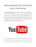 Phương pháp học tiếng Anh giao tiếp qua các kênh youtube pptx