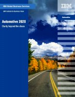IBM Institute for Business Value: Automotive 2020 Clarity beyond the chaos doc