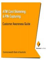 ATM Card Skimming & PIN Capturing: Customer Awareness Guide pot