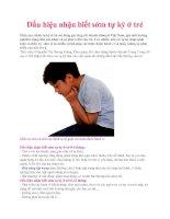 Dấu hiệu nhận biết sớm tự kỷ ở trẻ ppt
