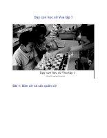 Dạy con học cờ Vua tập 1 pdf