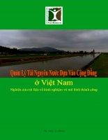 Quản Lý Tài Nguyên Nước Dựa Vào Cộng Đồng ở Việt Nam- Nghiên cứu tài liệu về kinh nghiệm và mô hình thành công pdf