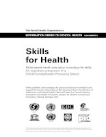 Skills-based health education including life skills: An important component of a Child-Friendly/Health-Promoting School potx