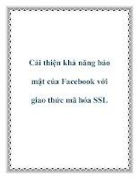 Cải thiện khả năng bảo mật của Facebook với giao thức mã hóa SSL doc