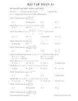 Đề thi mẫu toán cao cấp 1