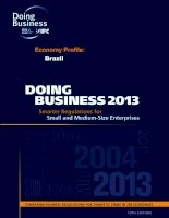DOING BUSINESS 2013: SMARTER REGULATIONS FOR SMALL AND MEDIUM-SIZE ENTERPRISES doc