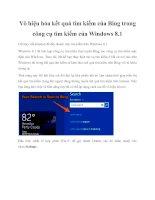 Vô hiệu hóa kết quả tìm kiếm của Bing trong công cụ tìm kiếm của Windows 8.1 pptx