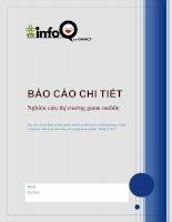 Báo Cáo Nghiên cứu thị trường game mobile Việt Nam pot
