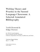 Writing Theory and Practice in the Second Language Classroom: A Selected Annotated Bibliography potx