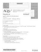 Vật lý A level: AQA PHYA4 2 w QP JUN10