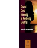 Cervical Cancer Screening in Developing Countries: Report of a WHO consultation doc