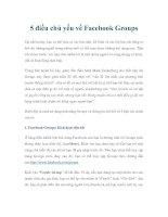 5 điều chủ yếu về Facebook Groups docx