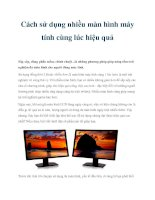 Cách sử dụng nhiều màn hình máy tính cùng lúc hiệu quả doc