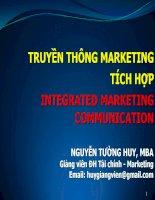 Bài giảng về Truyền thông Marketing tích hợp potx