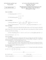 ĐỀ THI TUYỂN SINH VÀO LỚP 10 THPT NĂM HỌC 2013 – 2014 - SỞ GIÁO DỤC VÀ ĐÀO TẠO HẢI DƯƠNG (Đợt 1) docx