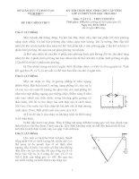 Đề thi học sinh giỏi vật lý chuyên vĩnh phúc