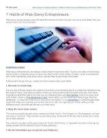 7 habits of websavvy entrepreneurs