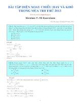 15 bài toán điện xoay chiều hay khó trong mùa thi thử 2013 potx