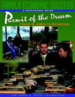 A DISCUSSION GUIDE Pursuit of the Dream Cars & Jobs in America potx