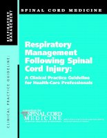 Respiratory Management Following Spinal Cord Injury: A Clinical Practice Guideline for Health-Care Professionals ppt
