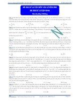 Đề thi thử đại học môn vật lí năm 2011 Khóa thầy Đặng Việt Hùng lần 6 phần 1