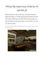 Phòng bếp sang trọng và ấm áp với nội thất gỗ pdf