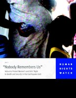 """""""Nobody Remembers Us"""" Failure to Protect Women's and Girls' Right to Health and Security in Post Earthquake Haiti pdf"""