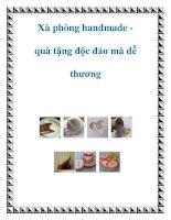 Xà phòng handmade quà tặng độc đáo mà dễ thương pdf
