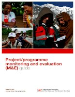 Project/programme monitoring and evaluation (M&E) guide doc